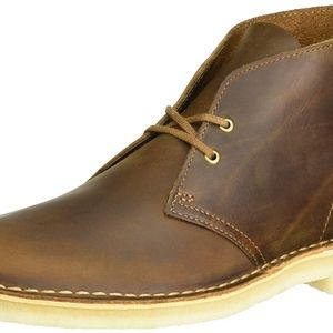 Brown Leather Clarks Desert Boots